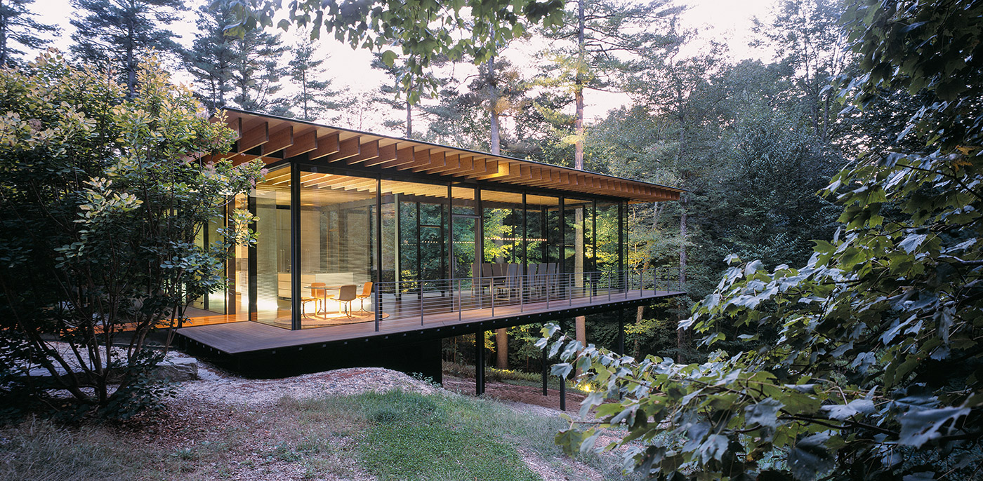 Inside Of Glass And Wood House : Glass wood house erieta attali
